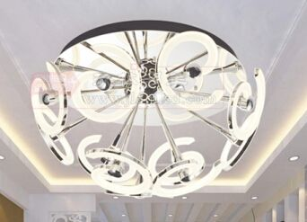[新品发布]中山玖林照明现代简约客厅吊灯亚克力吊灯