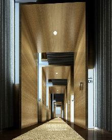 河南兰亭驿站精品商务酒店设计方案-酒店客房走廊