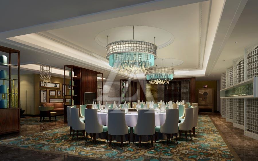 白金五星级酒店设计:泸州巨洋国际大酒店大包房设计