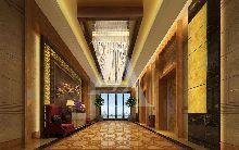 白金五星级酒店设计 南溪巨洋国际大酒店大堂电梯间设计