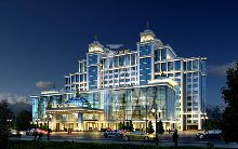 拉萨飞天国际大酒店-夜景外观建筑设计