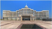 江山半岛海上世界大酒店正面外观