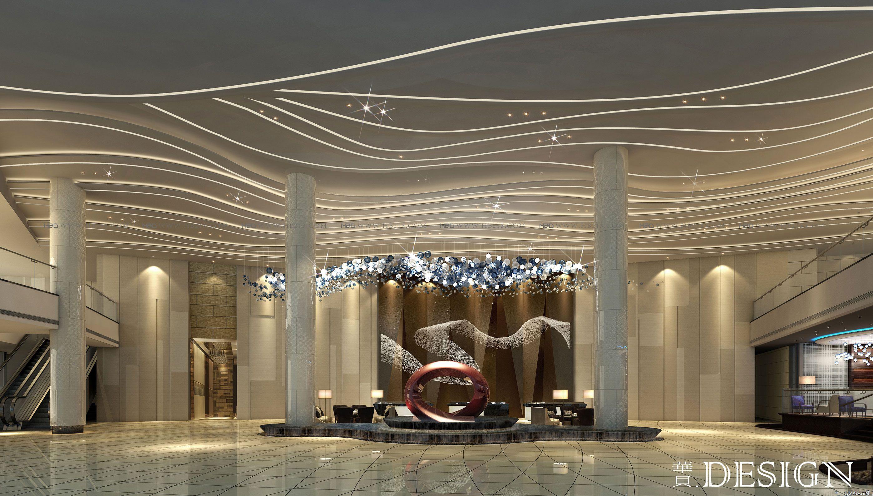 山东银座国际会议酒店建筑室内空间设计