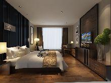 成都天辰酒店―客房设计效果图―床(3)