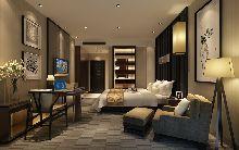 成都天辰酒店―客房设计效果图―床