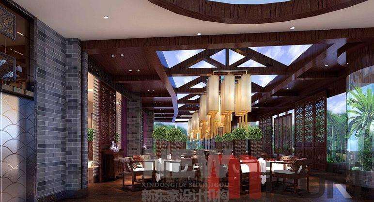 成都专业茶楼设计专业茶楼装修公司茶楼效果图会所设计新东家设计的