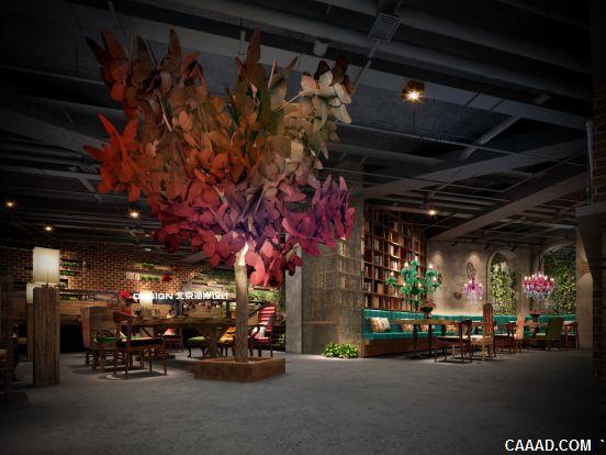 室内设计-慕孜咖啡厅-蝴蝶物语