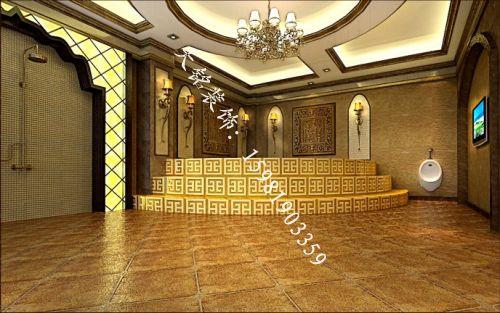 山东肥城梁矿洗浴中心装修设计效果图-洗浴装饰设计
